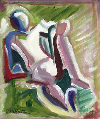 Painting - Leaning Back by Kerryn Madsen-Pietsch