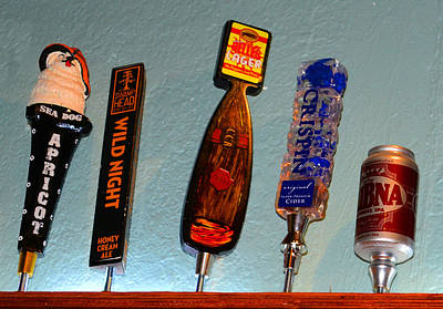 Photograph - Tipsy Beer Taps by David Lee Thompson