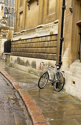 Photograph - Leaning Bicycle by Jean Noren