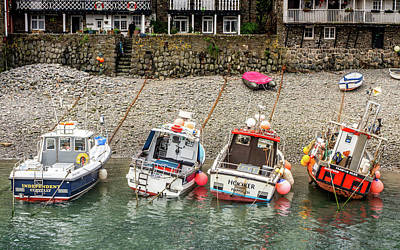 Photograph - Leaning Boats Of Clovelly by Framing Places