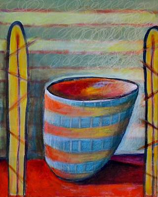 Painting - Leaning Bowl by Rosemary Healy