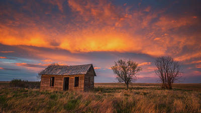 Photograph - Leaning Cabin Of Briggsdale by Darren White