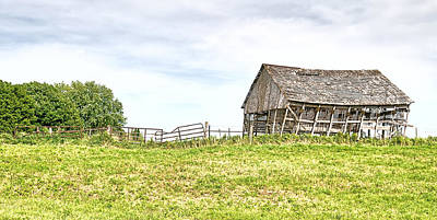 Photograph - Leaning Iowa Barn by Scott Hansen