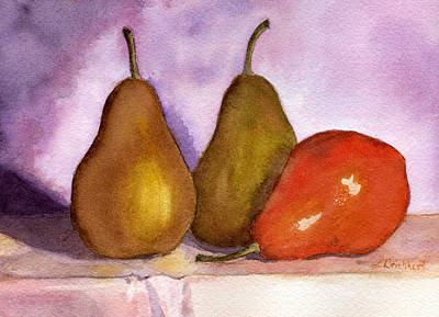 Painting - Leaning Pear by Lynne Reichhart