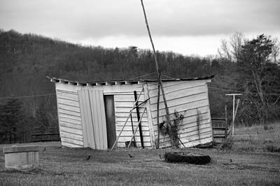 Photograph - Leaning Shed 2 by Kathryn Meyer