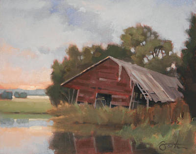 Shed Painting - Leaning by Todd Baxter