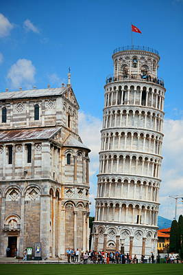 Photograph - Leaning Tower In Pisa by Songquan Deng