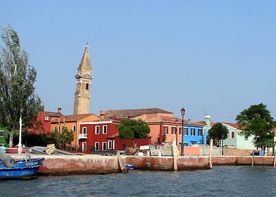 Photograph - Leaning Tower Of Burano by T Guy Spencer