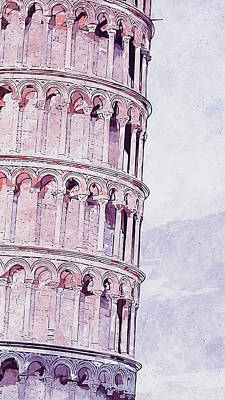 Painting - Leaning Tower Of Pisa - 03 by Andrea Mazzocchetti