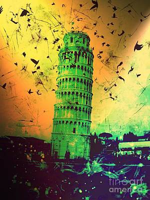 Epic Digital Art - Leaning Tower Of Pisa 32 by Marina McLain