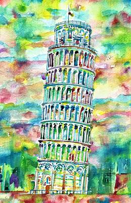 Painting - Leaning Tower Of Pisa by Fabrizio Cassetta