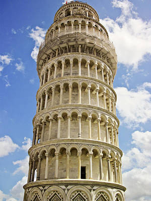 Leaning Building Photograph - Leaning Tower Of Pisa by Francesco Damin