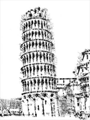 Digital Art - Leaning Tower Of Pisa by ISAW Gallery