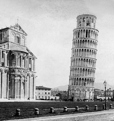 Leaning Tower Of Pisa Italy - C 1902  Art Print