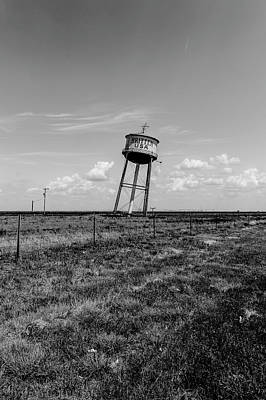 Photograph - Leaning Water Tower by Mark Hamilton