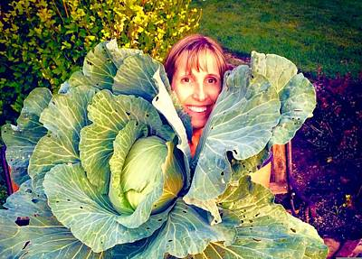 Leanna And The Cabbage Art Print