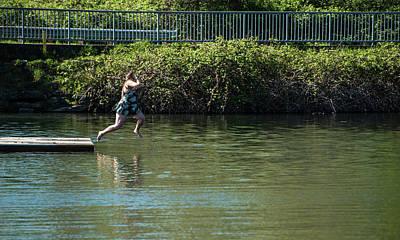 Photograph - Leap Into Lake Whatcom by Tom Cochran
