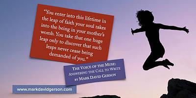 Digital Art - Leap Of Faith by Mark David Gerson