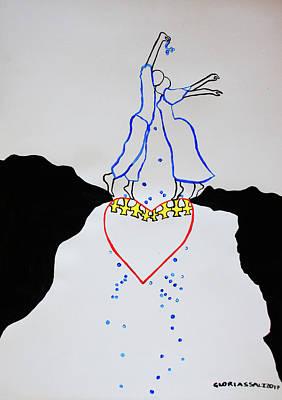 Leap Of Faith  Marriage Art Print by Gloria Ssali