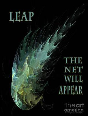 Digital Art - Leap. The Net Will Appear  by Suzanne Schaefer