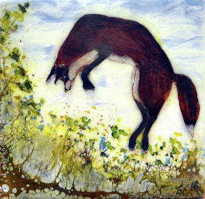 Painting - Leaping Fox 1 by Jennifer Creech