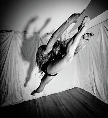 Photograph - Leaping In Studio by Scott Sawyer