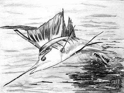 Leaping Sailfish  Art Print