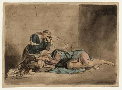 Prison Painting - Lear And Cordelia In Prison by William Blake