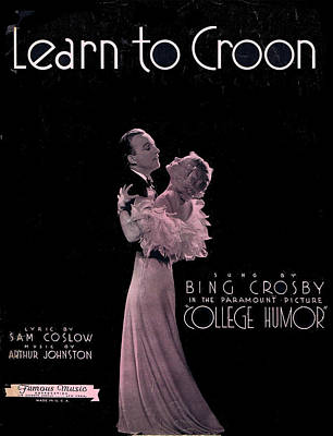 Crosby Photograph - Learn To Croon by Mel Thompson