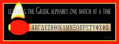 Alphabet Learning Digital Art - Learning The Greek Alphabet by Robert J Sadler