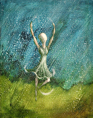 Learning To Dance In The Rain  Art Print by Charlotte Smith