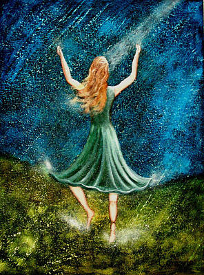 Learning To Dance In The Rain II Art Print by Charlotte Smith
