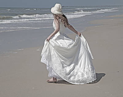 Wedding Gown Photograph - Learning To Fly by Betsy Knapp
