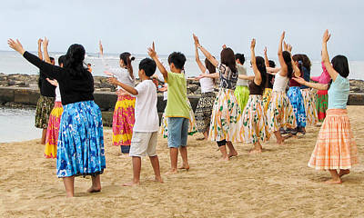 Photograph - Learning To Hula In Hawaii by Bob Slitzan