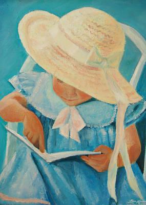 Learning To Read Art Print by Lisa Konkol