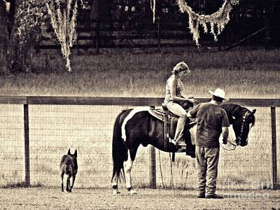 Photograph - Learning To Ride Sepia by Sarah Loft