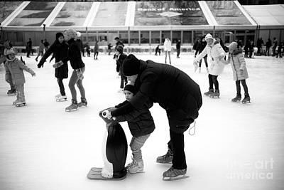 Learning To Skate Art Print