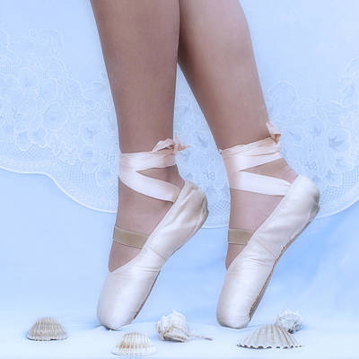 Photograph - Learning To Walk In Dance World With Pink Pointe Shoes by Pedro Cardona