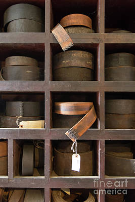 Photograph - Leather Belt Storage At An Old Mill by Edward Fielding