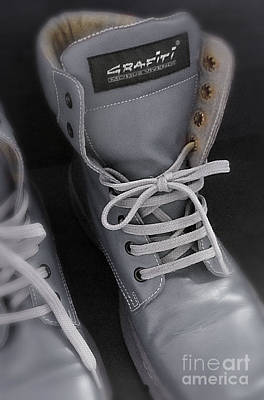 Photograph - Leather Boots by Eena Bo