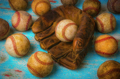 Photograph - Leather Glove And Old Balls by Garry Gay