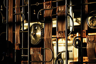 Photograph - Leather Straps At The Harley Davidson Museum by Jeanette Fellows