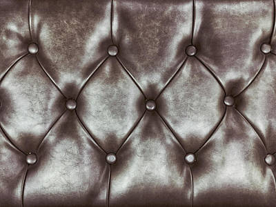 Leather Upholstery Background  Art Print