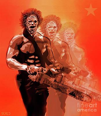 Mixed Media - Leatherface Beastmode by Surj LA