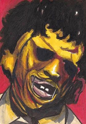 Texas Drawing - Leatherface by Jim Valentine