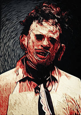 Creepy Digital Art - Leatherface by Taylan Apukovska