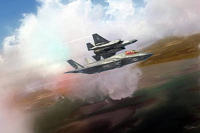 Leatherneck Lightnings Art Print by Peter Chilelli