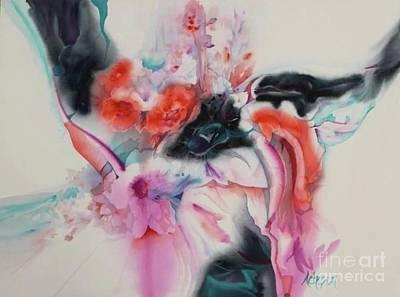 Painting - L'eau Qui Coule by Donna Acheson-Juillet