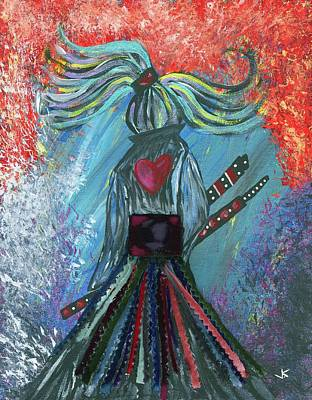 Warrioress Mixed Media - Leave It All Behind by Vennie Kocsis