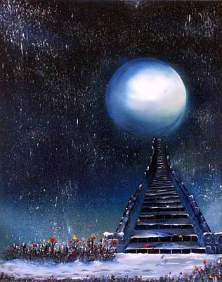 Staircase Painting - Leave Your Trail by Tara Baden